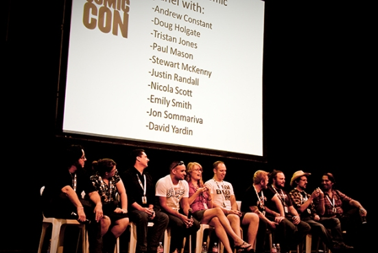 The Aussies in Comics Panel