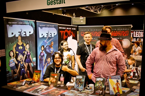 Justin Randall and co at the Gestalt table.