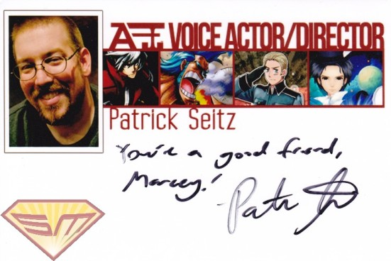 Patrick Seitz Autograph Marcey