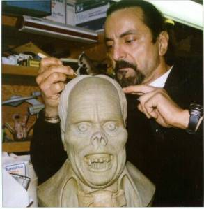 Savini with Lon Chaney bust