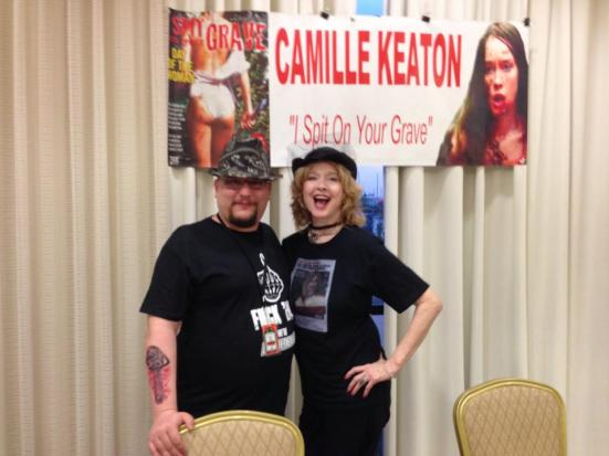 Me and Camille Keaton