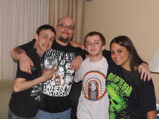 Me, Molesworth, Jamie and Caleb Guss