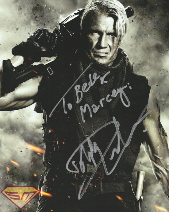 Dolph Lundgren autograph