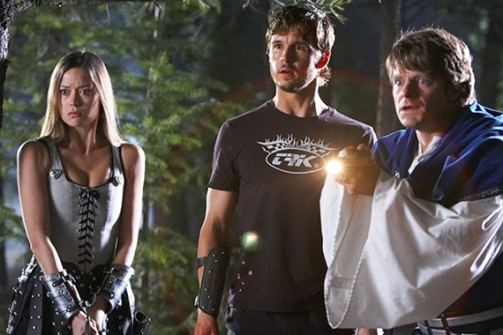 "DF-2708 (l to r) Summer Glau stars as ""Gwen"", Ryan Kwanten as ""Joe"" and Steve Zahn as ""Eric"" in Entertainment One's upcoming release, KNIGHTS OF BADASSDOM."