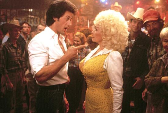 RHINESTONE, Sylvester Stallone, Dolly Parton, 1984, TM and Copyright (c)20th Century Fox Film Corp. All rights reserved.