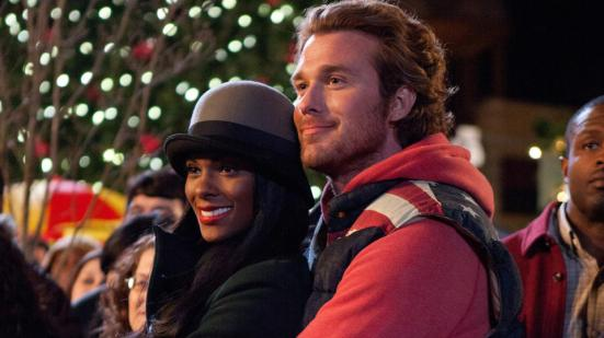 Lacey (Tika Sumpter) and Conner (Eric Lively) in TYLER PERRY'S A MADEA CHRISTMAS. Photo Credit: KC Bailey